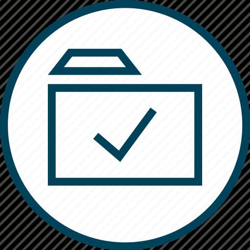 Check, folder, mark, menu, navigation icon - Download on Iconfinder