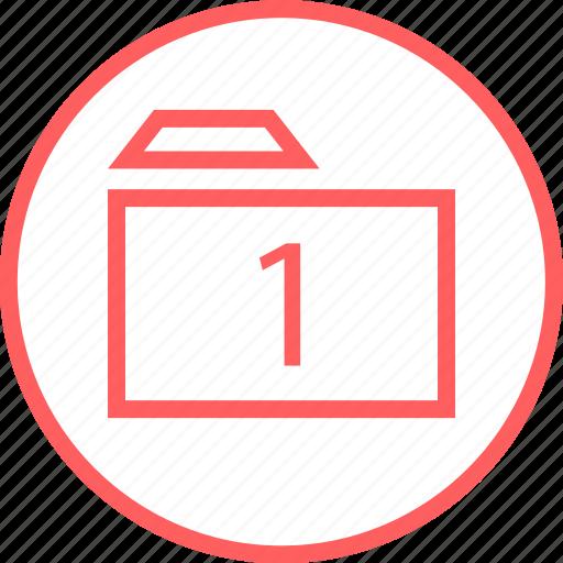 folder, menu, navigation, one icon