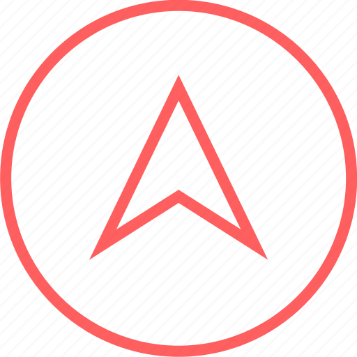 arrow, gps, menu, navigation, up icon