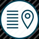 gps, lines, menu, navigation