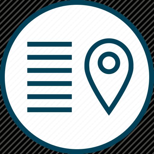 gps, lines, menu, navigation icon
