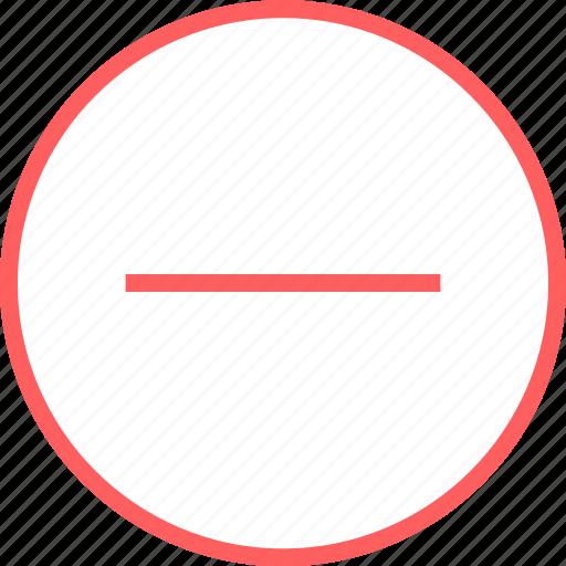 Menu, navigation, negative, sign icon - Download on Iconfinder