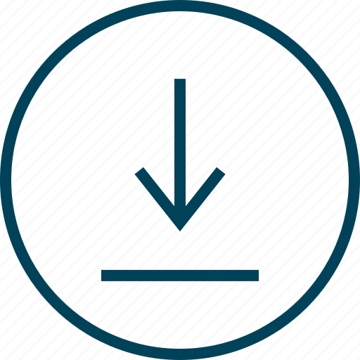 arrow, down, menu, navigation, point icon