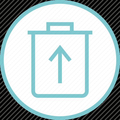 can, menu, navigation, restore, trash icon