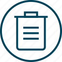 bin, can, menu, navigation, trash icon