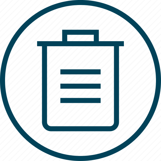 Bin, can, menu, navigation, trash icon - Download on Iconfinder