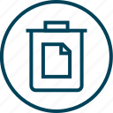 bin, can, menu, navigation, page, trash icon