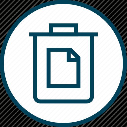 bin, can, menu, navigation, page, trash icon