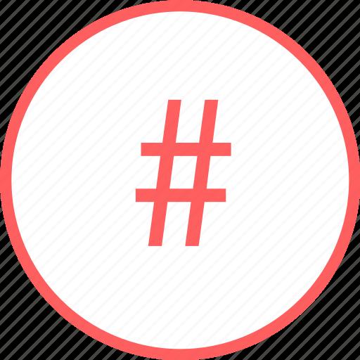 hashtag, mark, menu, navigation, tweet icon