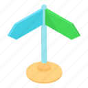 arrow, cartoon, direction, empty, information, post, road icon