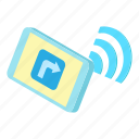 cartoon, fi, internet, phone, router, wi, wireless icon