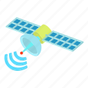 cartoon, communication, connection, satellite, space, technology icon
