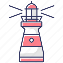 navigation, sailing, marine, lighthouse, lighthouse icon, beacon icon, beacon icon