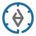 arrow, compass, direction, location, navigation