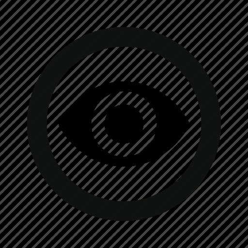 authorization, detect, eye, follow, identity, monitoring, permission, personality, scope, visible, visual icon