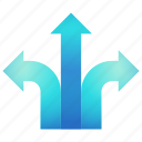 direction, left, navigation, right icon