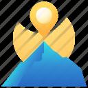 direction, gps, location, mountain, navigation