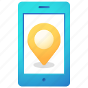 gps, location, mobile, navigation, phone, pin, smartphone icon