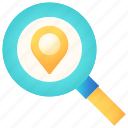 location, magnifier, navigation, pin, search, zoom
