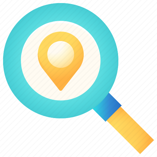 Location, magnifier, navigation, pin, search, zoom icon - Download on Iconfinder