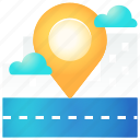 direction, location, navigation, place, pointer, street