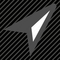 arrow, compass, direction, locate, location, north icon