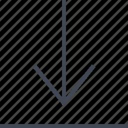 arrow, down, download, file, menu icon