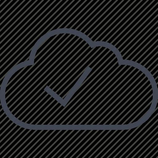 check, cloud, good, mark, ok icon