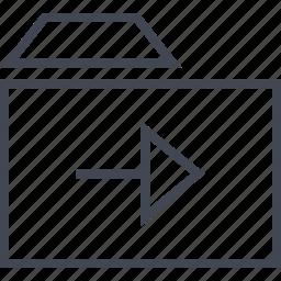 arrow, folder, forward, go, menu, next icon