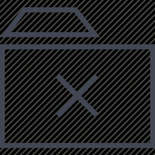 archive, delete, file, folder, x icon