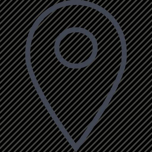 gps, location, nav, online, web icon
