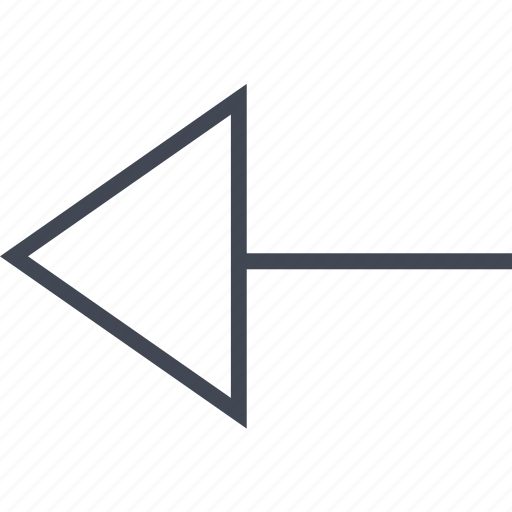 arrow, back, left, menu, point icon