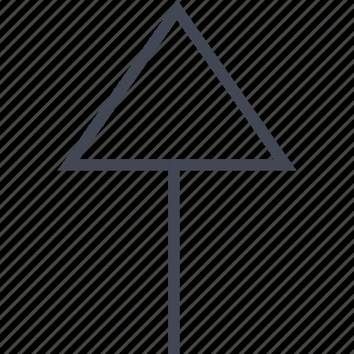 Menu, up, arrow, upload icon
