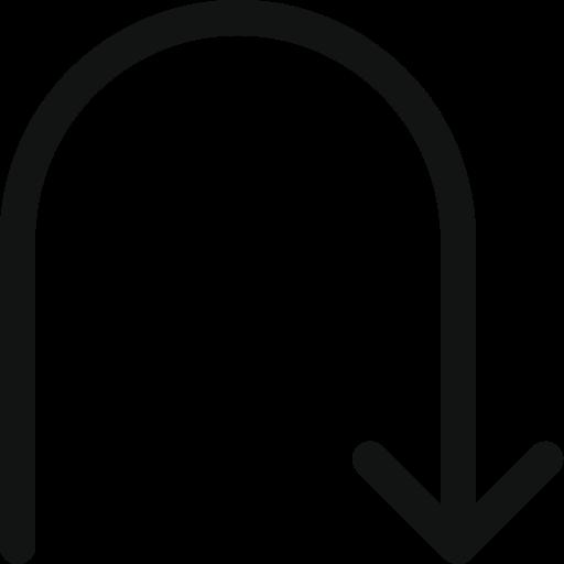 Arrow, arrow down, arrow turn, back, direction, down, turn icon - Free download