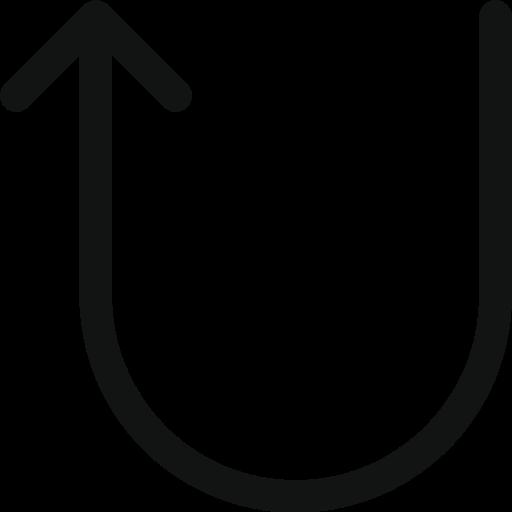arrow, arrow turn, arrow up, back, diraction, turn, up icon