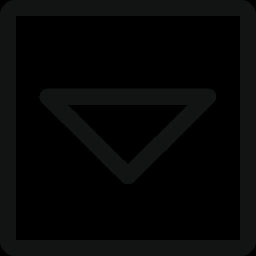 arrow, arrow down, arrow square, down, square, stroke arrow icon