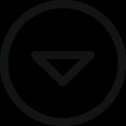 arrow, arrow circle, circle, down, drop, stroke arrow icon