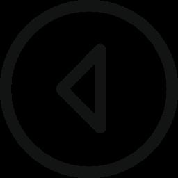 arrow, arrow left, circle, left, stroke arrow icon