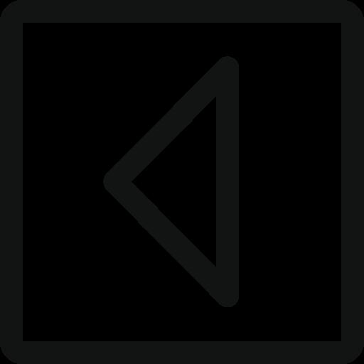 arrow, arrow left, left, square, stroke arrow icon