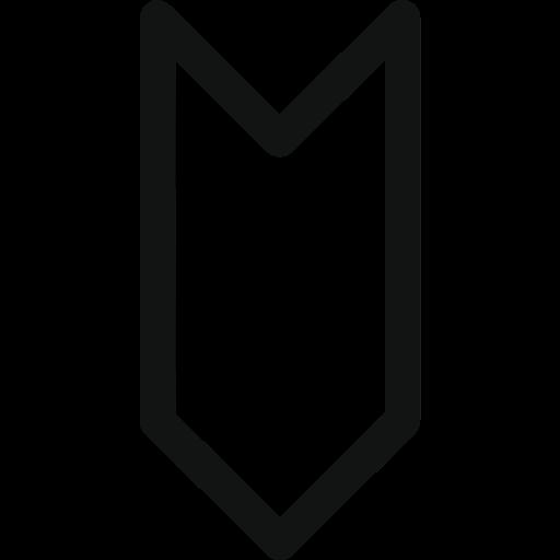 arrow, arrow down, down, label, luxury, stroke arrow, tag icon