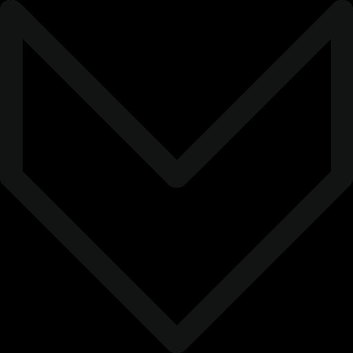 arrow, direction, down, retro, stroke arrow icon