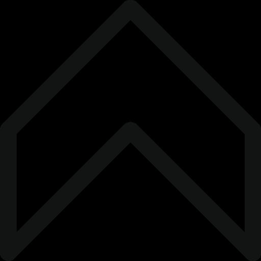 arrow, direction, retro, stroke arrow, up icon