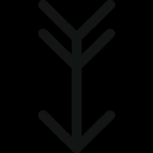 Ancient, arrow, arrow down, down, hunting arrow, luxurious arrow, vintage arrow icon - Free download