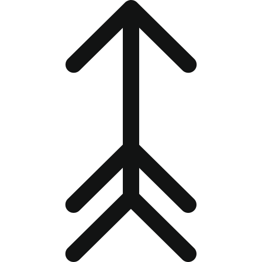 Ancient arrow, arrow, arrow up, hunting arrow, luxurious arrow, up, vintage arrow icon - Free download