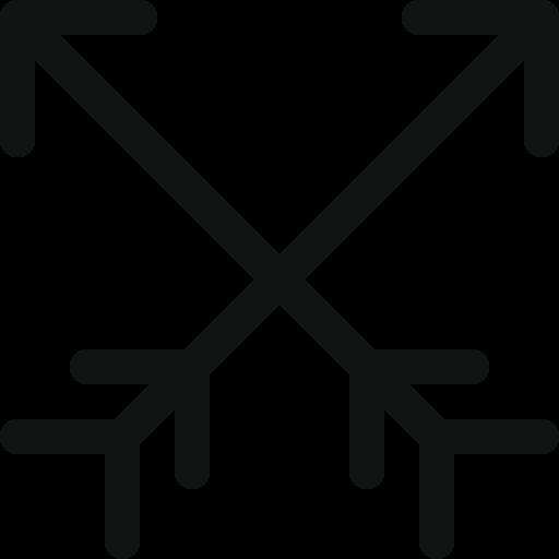 ancient arrows, arrow, cross arrows, crossing arrows, hunting, luxurious arrows, vintage arrows icon