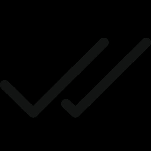 checks, doublecheck, two checks icon