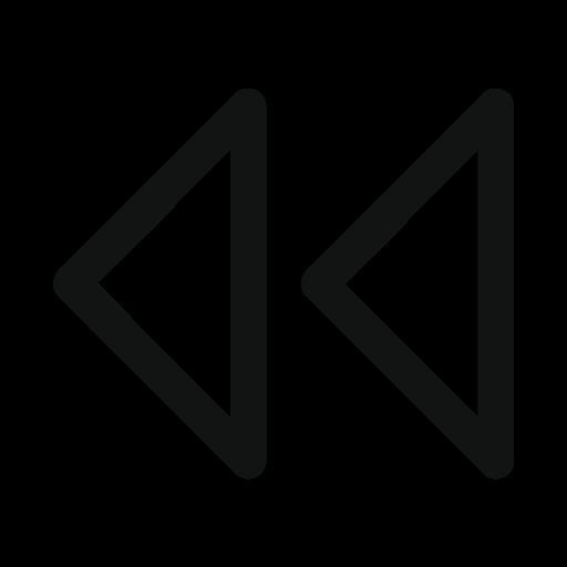 arrow, double, double arrow, left icon