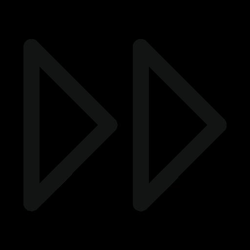 arrow, double, double arrow, right icon