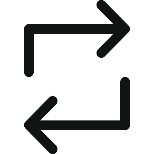 arrows, double, loop, looping, process icon