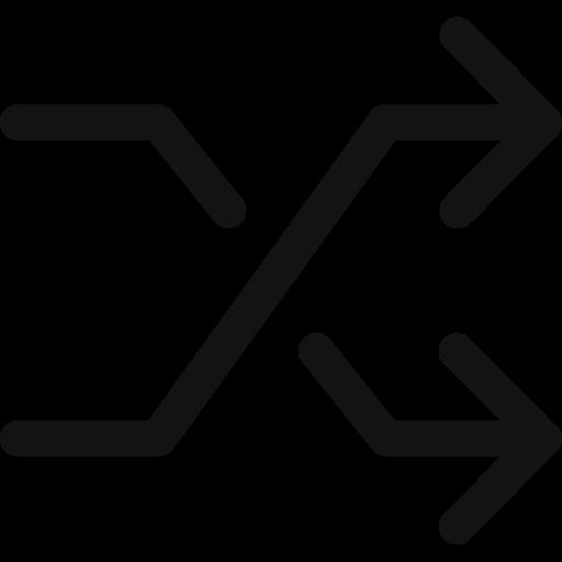 arrows, cross arrows, random, shuffle icon